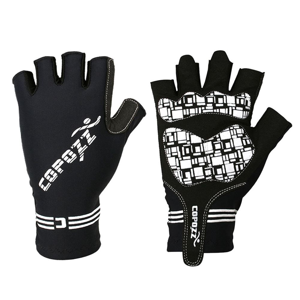 1 Pair GLV-1055 Outdoor Half-finger Impact Resistant Ventilative Cycling Gloves