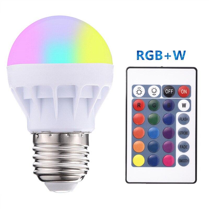 LED RGB 24key Bulb Lamp AC85-265V 220V E27 Spot Blubs Stage Night Lights Holiday RGB Lighting+IR Remote Control LED Bulb RGB