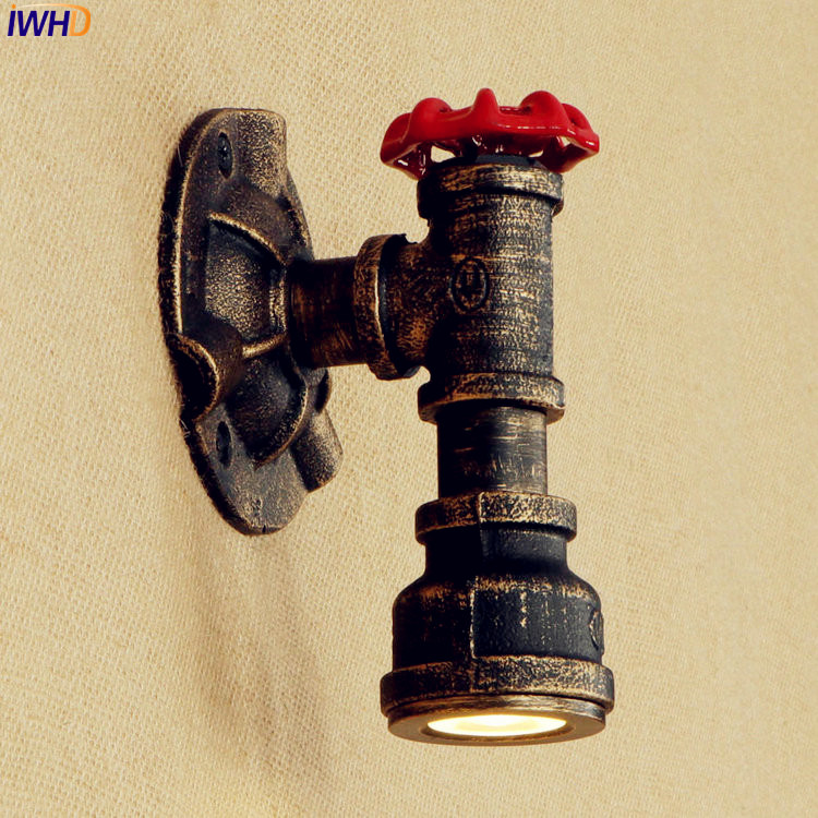 Lights & Lighting Dutiful Iwhd 5w Iron Vintage Retro Wall Lights Fixtures Bedroom Stair Rustic Industrial Iron Metal Water Pipe Wall Lamp Sconce Lighting With A Long Standing Reputation