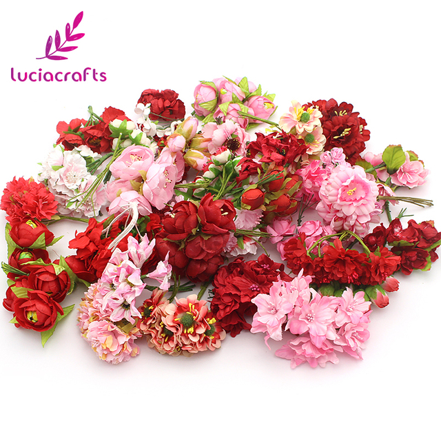 Lucia crafts Artificial flower Bouquet Wrapping For Wedding Party ...