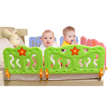1pc baby Fence with 2 Support Frames Foldable Safety Fence for Babies Music Voice Button Baby Playpen Kids Activity Gear Fencing(China)