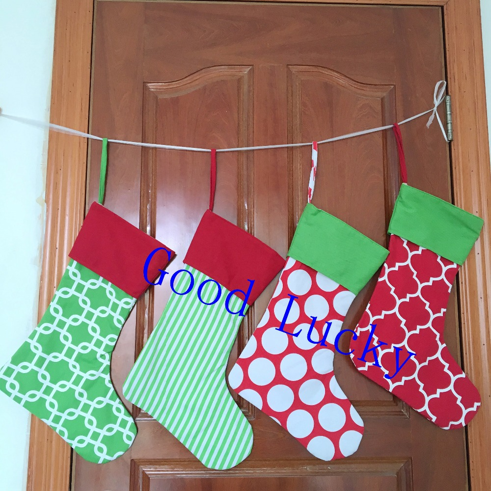 40pcslot free shipping christmas gift canvas stocking wholesale mixed colors stockings monogram personalized christmas stocking in stockings gift holders - Christmas Stockings Wholesale