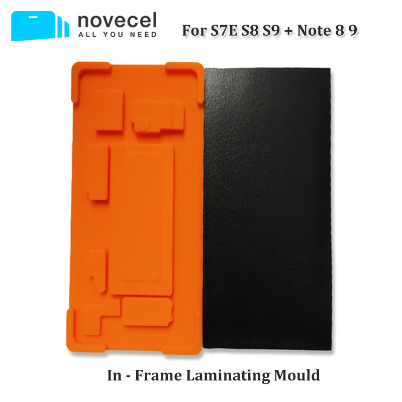Novecel 1set In Frame Laminating Mold for Samsung S9 S8 Plus Note 8 9 S7 edge Screen with Frame Lamination Fit Q5 YMJ Laminator