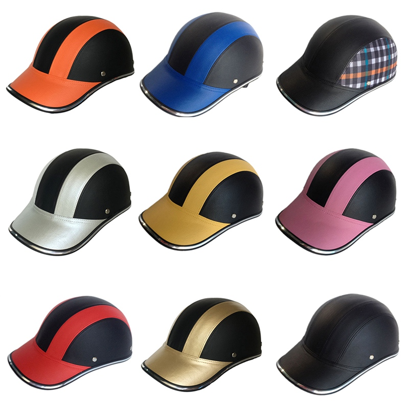 Beautiful Riding Helmet Baseball Cap Abs+pu Hats Racing Safety Hat Anti-vibration Crashworthy Motion Helmet Attractive Fashion
