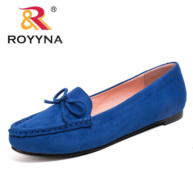 Женские туфли на плоской подошве ROYYNA, мягкие, удобные, прочные, с закругленным носком, большие размеры|flat women|shoes womanround toe | АлиЭкспресс