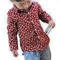 Meninos outerwear Primavera Chegada Nova Roupa Dos Miúdos meninos Blusa Longa Da Forma das Crianças-meninos camisa de Algodão de mangas compridas roupas infantis