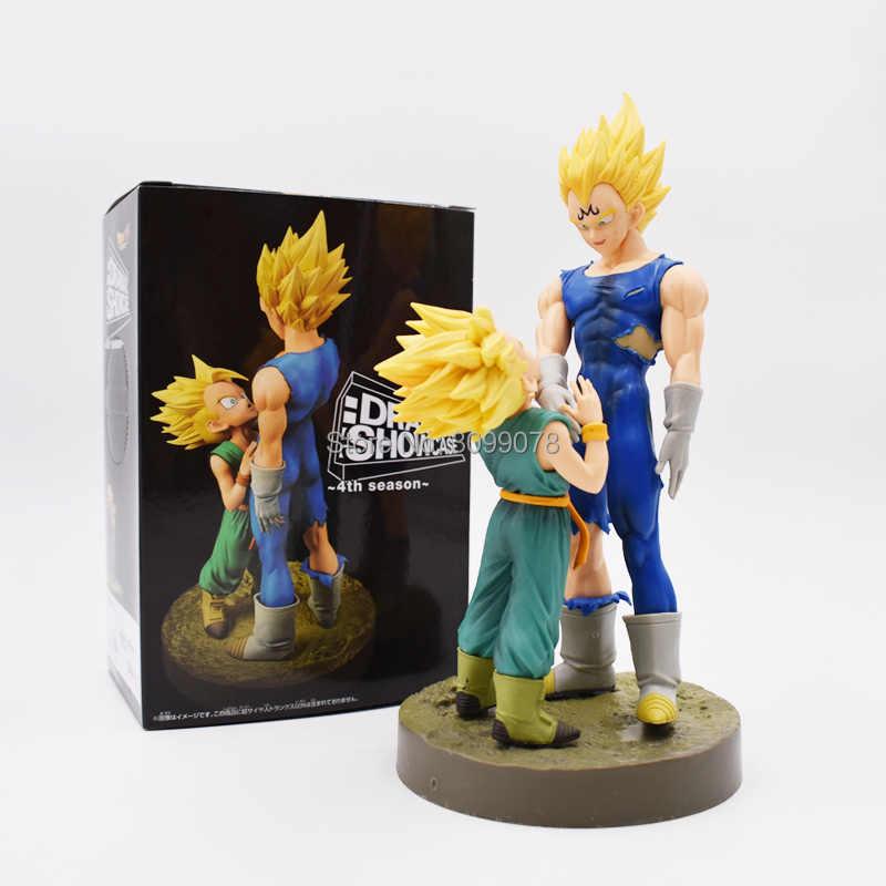 12-21 cm dragon ball son goku figuras de ação pvc dramática showcase anjo goku gohan frieza modelo boneca de brinquedo pvc figurinhas dbz gokou