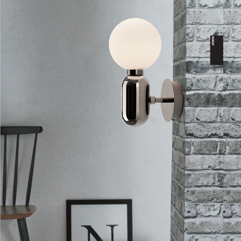Nordic Bathroom Light Bedroom Bedside Lamp Sconce Wall Lights Glass Ball Led Modern Mirror Light Aisle Corridor Led Lamps