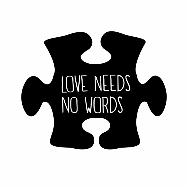 929953869ec Autism Awareness Car Vinyl Decal Sticker Love Needs No Words-in Wall ...