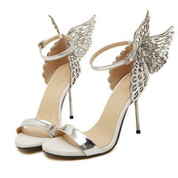 2017 High Heels Pumps Women Shoes Butterfly Heels Sandals Sexy Wedding Shoes Party Dance Shoes Sapato