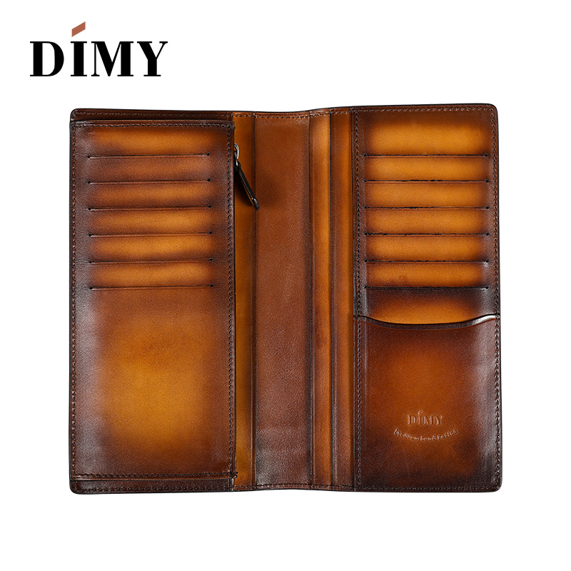Dimy Vintage Genuine Leather Wallet Male Purses Credit Card Coin Card Holder Clip For men long Wallets Brand Luxury Slim ID Card 2016 new fashion luxurious brand small mini ultra thin slim wallets men s leather bifold clip wallet id credit card holder