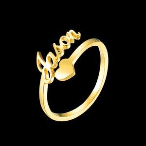 Персонализированные именные кольца с гравировкой в виде сердца, кольца из нержавеющей стали, золотые кольца для женщин, юбилейные ювелирны...
