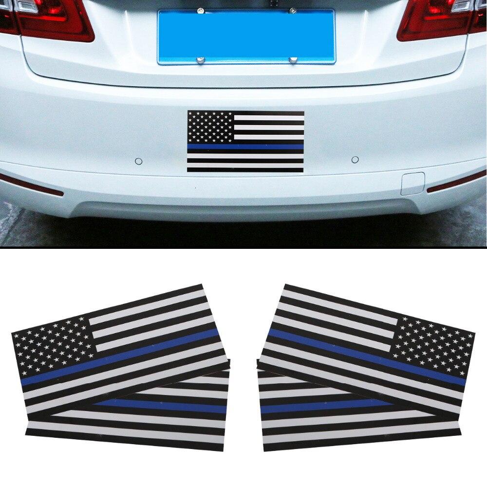 4 шт. съемный магнитный черные и белые США флаг наклейка американского флага автомобиль бампер магнит знаки автомобиля Стикеры # sgb-11-4