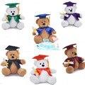 1 unids 1 #25 cm Dr oso de peluche muñeca de juguetes de peluche de regalo de Graduación de cumpleaños regalo de recuerdo