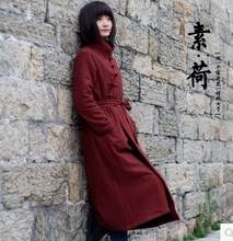 Новая версия продукта зимой 2015 года, оригинальный дизайн свободные большие ярдов хлопка высокого класса женщин хлопка пальто