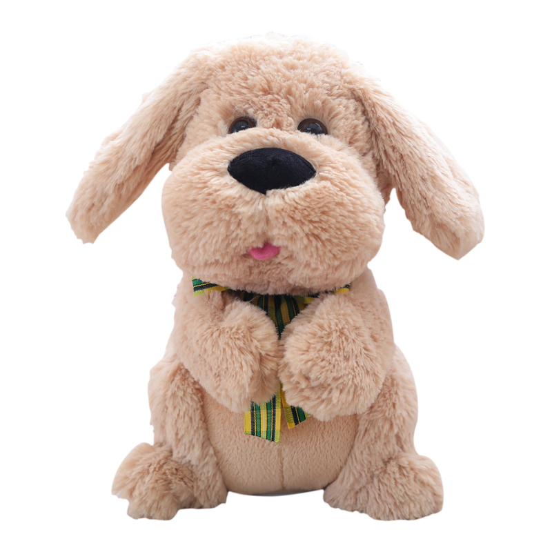 1PCS 28CM Electrical Peek A Boo dog Stuffed Animals Singing Baby Music Toys Ears Flaping Move Interactive Doll цена 2017