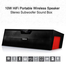 Sardine SDY-019 Drahtlose Bluetooth Lautsprecher FM Radio 10W Tragbare Stereo Subwoofer HiFi Lautsprecher SD card player(China)