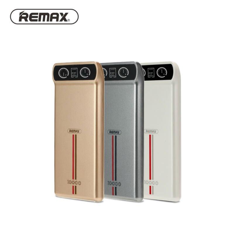 Remax 10000 mah 2usb banco de potencia led cargador de batería externo portable