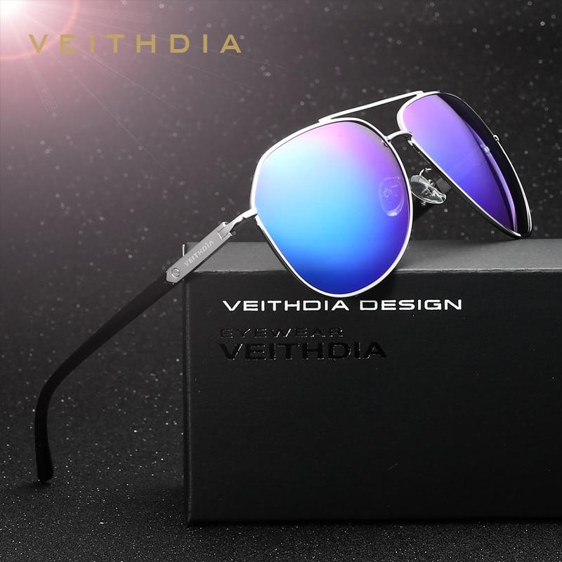afce02c304 VEITHDIA Brand Designer Fashion Unisex Sun Glasses Polarized Color Coating Mirror  Sunglasses Women Male Eyewear For