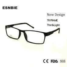 2e20f9707d ESNBIE Rectangular Nerd Glasses Woman Men OPTICAL Glasses Frame TR90 Light  Weight Small Prescription Eyewear Frames