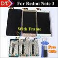 Pantalla lcd + asamblea de pantalla táctil digitalizador de alta calidad para xiaomi teléfono móvil hongmi note 3 redmi note 3 con frame herramientas gratuitas