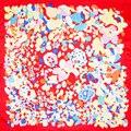100% Bufanda de Seda Bufanda de Las Mujeres Abstractas Flores Pañuelo Pequeño Cuadrado Bufanda de seda de Las Mujeres 2017 Mini Pañuelo De Seda Regalo Caliente para la navidad señora