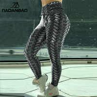 NADANBAO armure de fer armure imprimé Leggings femmes taille haute grande taille Leggins Push Up 3D entraînement élastique Bowknot Fitness pantalon