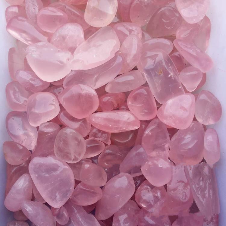 [1000g] natural quartz crystal granulated rose stone gravel. Pendulum aishi wholesale