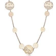 цена на Fanqieliu Fashion Long Sweater Chain Women 2019 New Vintage Gold Chain With Charms Pendants Necklace Rhinestone Jewelry FQL11112