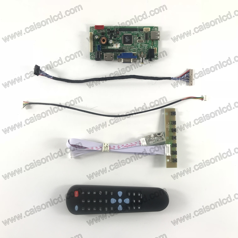 Easy diy LCD driver board support HDMI VGA AV AUDIO for LCD panel 12.1 inch 800X600 LCD monitor G121SN01 V4 driver board lcd board 52nn