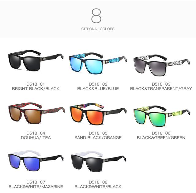 Men's Square Polarized Vintage Sunglasses