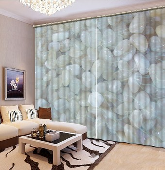 custom 3d curtains Goose soft stone 3d photo sofa-upholstery-fabric kitchen curtains crystal curtains thick-yarn-for-knitting