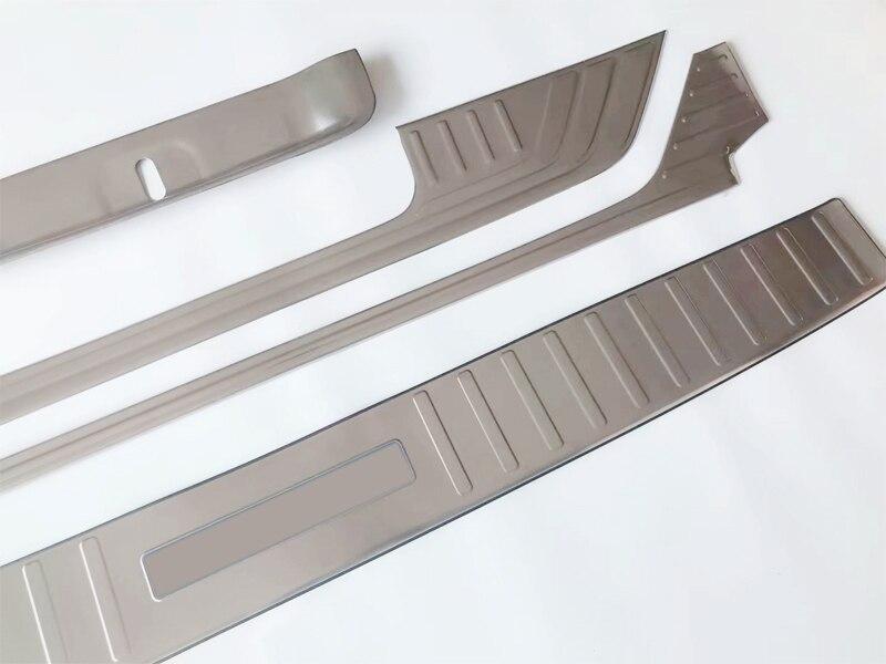 Housses de seuil de porte en titane noir en acier inoxydable pour XE 2015-2017