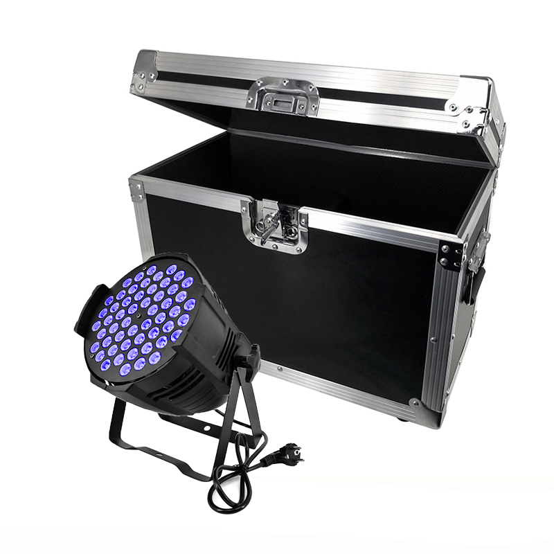 Flight Case With 2/4/6/8 Pieces Aluminum Alloy LED Can Par 54x3W Lighting 3IN1 And Mixed Color LED Light For Disco KTV Party