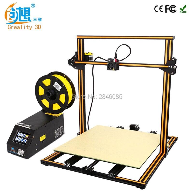 2018 Atualização CR-10 5S CREALITY Impressora 3D Grande Tamanho de Impressão de 500*500*500mm Dupla Haste Kit DIY filamento Touch/LCD Opção Normal