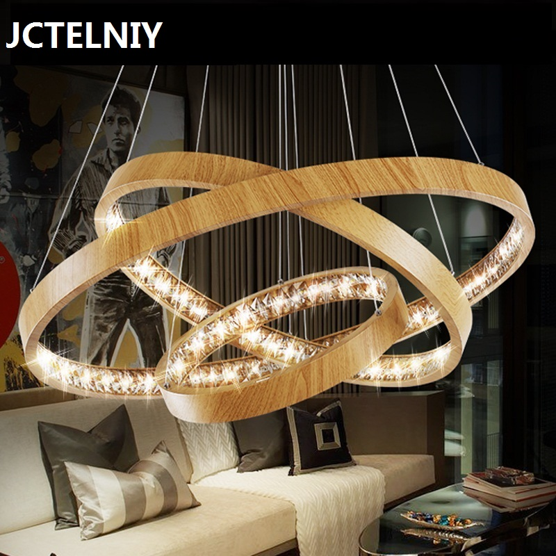 Ring crystal Chandelier Lamp LED modern living room bedroom lamp lighting lamp pendant lamp light white warm restaurant lamparas modern crystal lamp round shape led pendant light for bedroom living room lighting