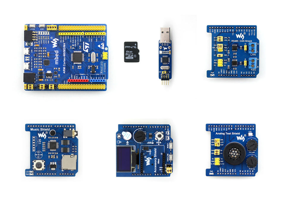 Modules NUCLEO Development Board STM32 Development Board XNUCLEO-F103RB Package B Compatible with NUCLEO-F103RB onboard Cortex-M modules music shield development board for leonardo nucleo xnucleo audio play record vs1053b onboard