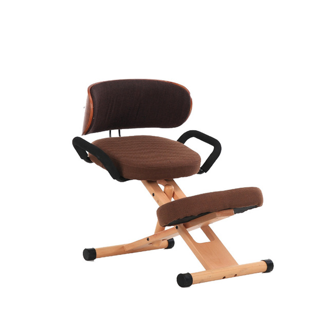 Posture Study Chair Stool And Table Lifted Sitting Correction Simple Style Solid Wood Computer Seat Household Soft Multifunction