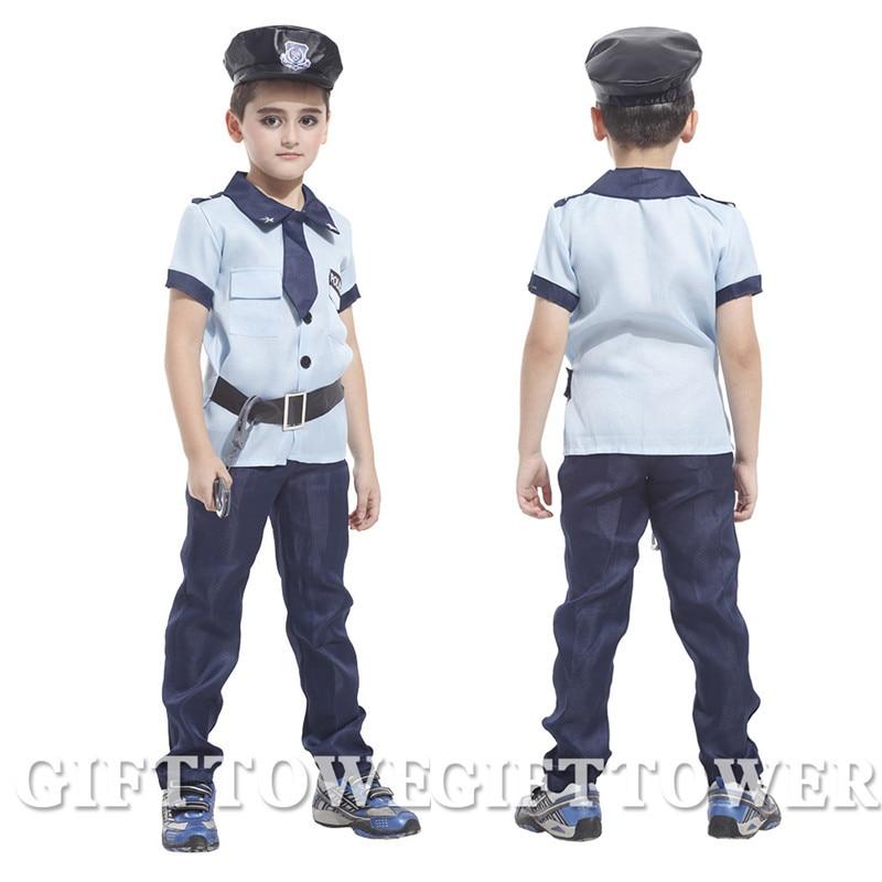m xl sper polica polica cosplay fiesta de navidad de halloween disfraces traje boy