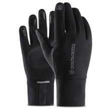 Moto Touch Screen Warm Winter Glove Fleece Lined Motorcycle Gloves Waterproof Guantes Windproof Gloves Motorcycle Black Grey цена