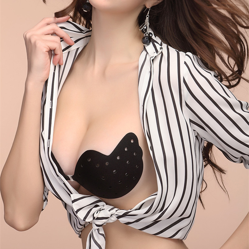 Brassiere Bars 2017 New Sexy Women Push Up Self Adhesive Silicone Instant Breast Lift Support Bra AdhesiveTape Chest Paste in Sexy Costumes from Novelty Special Use