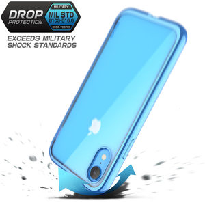 Image 3 - For iPhone XR 6.1 inch SUPCASE Case UB Electro Full Body Clear Plated Glitter Slim Hybrid Cover with Built in Screen Protector
