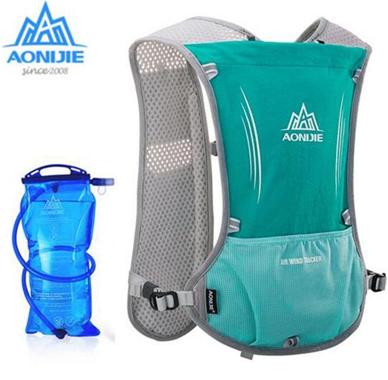 все цены на AONIJIE New Outdoor Running Water Hydration Backpack Hiking Cycling Lightweight Sport Bag With Bottle Holder 1.5L Water Bag