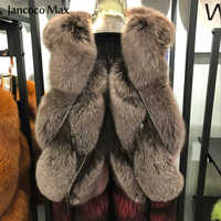 Fashion Style Women Real Fox Fur Gilet New Arrival Natural Fur Vest Spring Winter Lady Waistcoat S7483