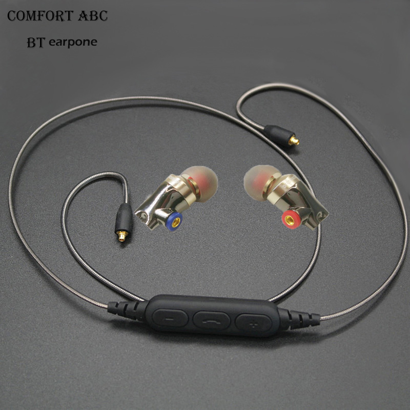 2017 new wireless bluetooth MMCX BT earphone for Sennheiser ie80 cable with sport earhooks headset for apple iphone freeshipping наушники sennheiser ie 4