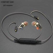2017 nouveau sans fil bluetooth MMCX BT écouteurs pour Sennheiser ie80 câble avec sport tours d'oreille casque pour apple iphone livraison gratuite