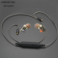 Promo offer new technology 2017 bluetooth MMCX cable with earphones for Sennheiser ie80 ie800 cable with sport earhooks headset freeshipping