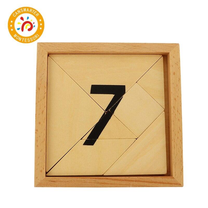 Jouet bébé Montessori Puzzle 1-9 numérique numéro Segmentation numérique avec boîte en bois Puzzle jouets éducation précoce - 6