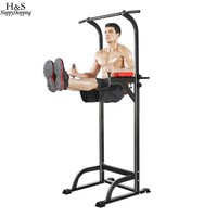Power Tower Chin Up Bar Adjustable Abs Pull up Bar Workout Knee Crunch Triceps Station Exercise Sport Fitness Equipment