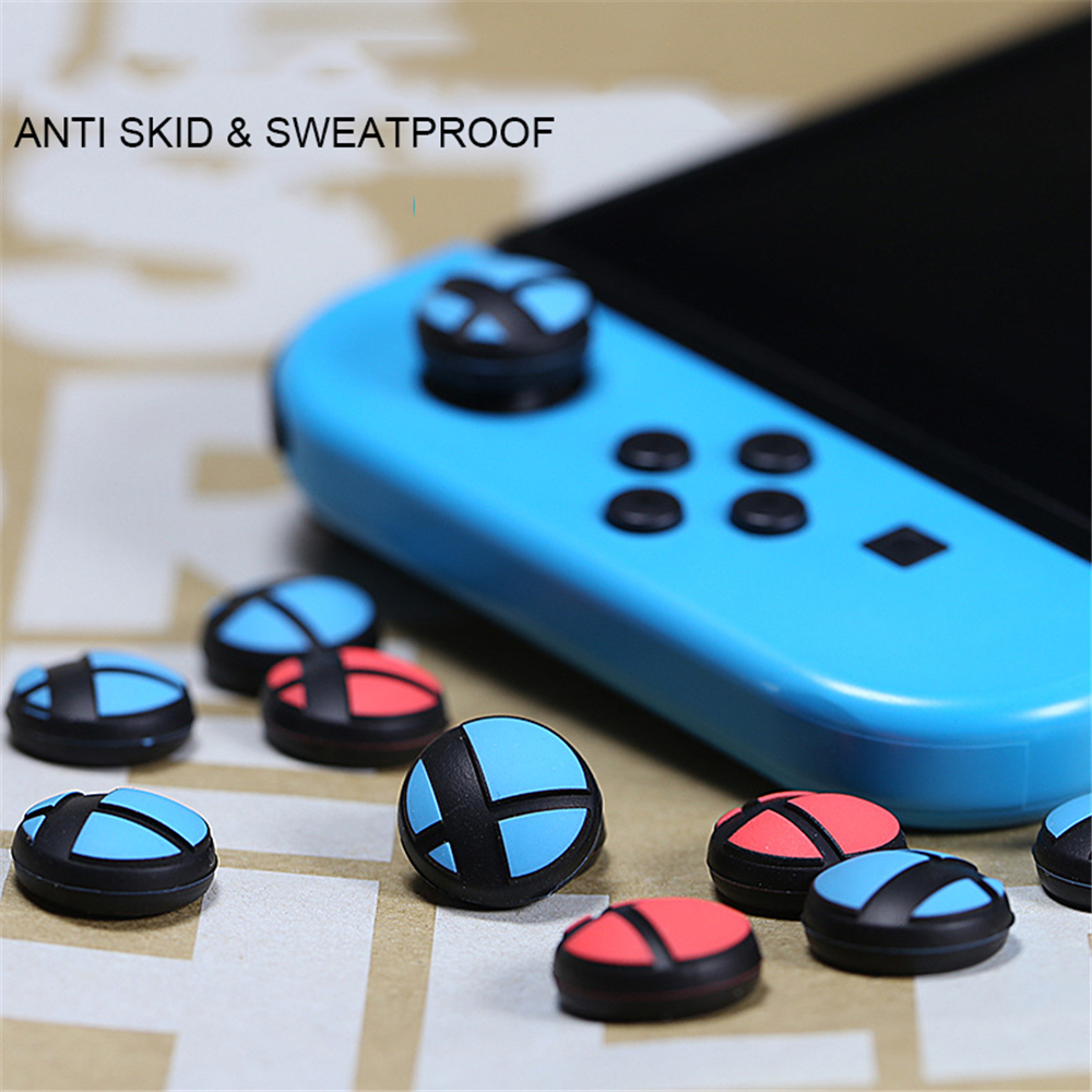 4pcs Silicone Analog Thumb Stick Grips For Nintend Switch New Thumbstick Cover Protective Case For NS Switch Controller Joystick